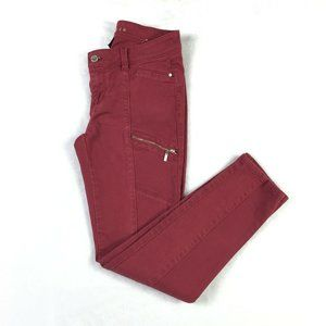 White House Black Market Red Cargo Skinny Jeans *